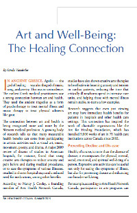 Art and Well-Being: The Healing Connection (Healthwise Ottawa, Summer 2015)